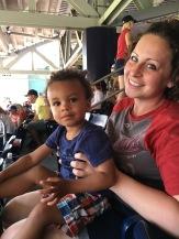 Nats baseball with baby